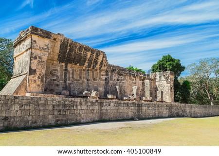 Chichen Itza. Mayan ruins, old city  Yucatan, Mexico - stock photo
