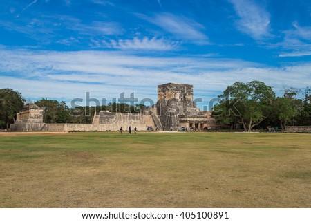 Chichen Itza: Mayan ruins, Yucatan Mexico - stock photo
