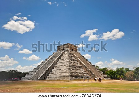 Chichen Itza Mayan Temple in Mexico - stock photo