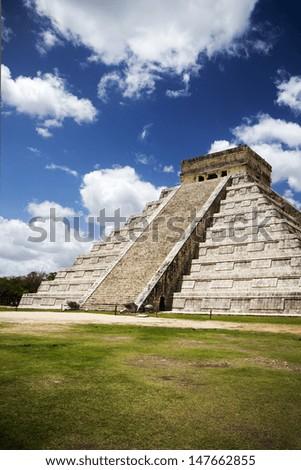 Chichen Itza Mexico great pyramid - stock photo