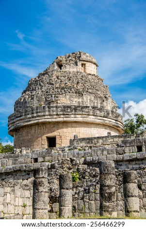 Chichen Itza Mexico, traveling America, Mayan Ruins, Quintana Roo. - stock photo