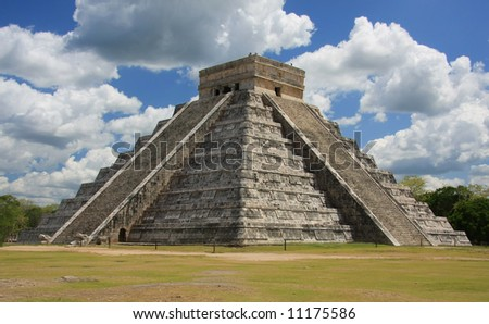 Chichen Itza, one of the seven wonders of the world. - stock photo