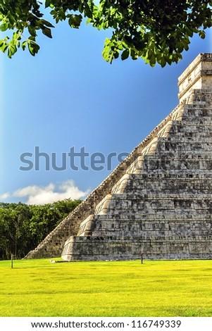 Chichen Itza way up - stock photo