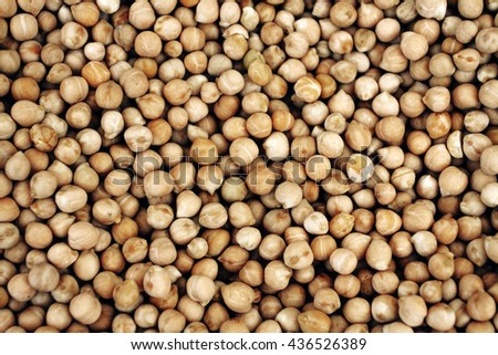 chick pea background. Can be used for design, websites, interior, background, backdrop, texture creation, the use of graphic editors, illustration, to create seamless textures. - stock photo