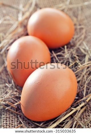 chicke eggs - stock photo