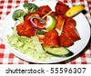 chicke tikka with salad - stock photo