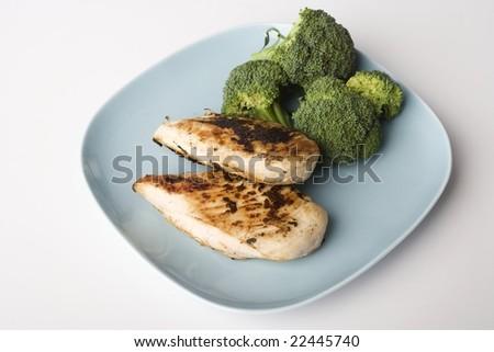 Chicken and Broccoli - stock photo