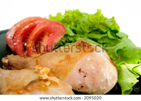 Chicken And Lettuce - stock photo