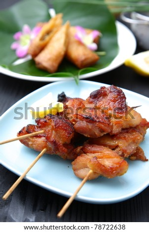 chicken barbecue,Asian Style - stock photo