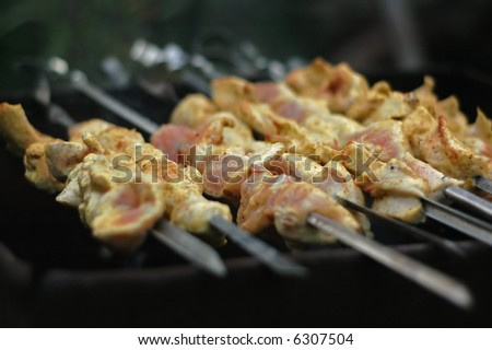 Chicken BBQ - stock photo