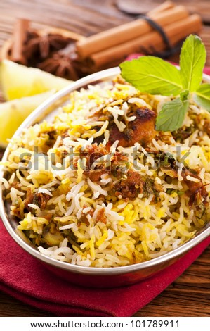 Chicken Biryani - stock photo