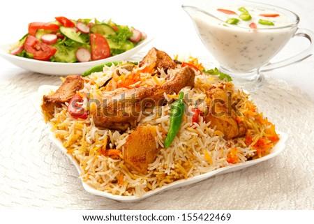 Chicken Biryani-7 - stock photo