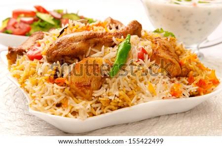 Chicken Biryani-4 - stock photo
