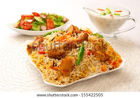 Chicken Biryani-10 - stock photo