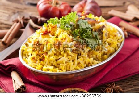 Chicken Biryani - stock photo