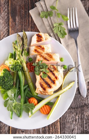 chicken breast fillet - stock photo