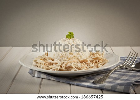 Chicken Breast with Turkish Pilav Rice - stock photo