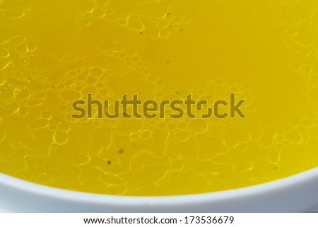 Chicken broth - stock photo