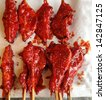 chicken burnt - stock photo