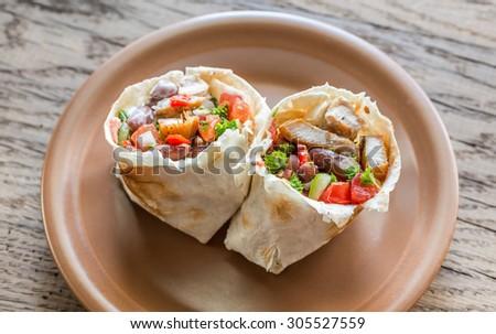 Chicken burrito - stock photo