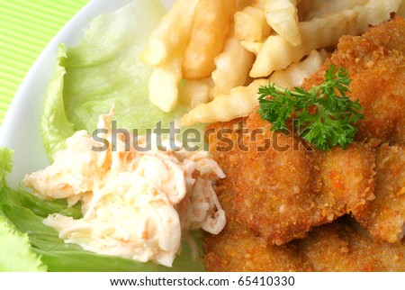 chicken chop - stock photo