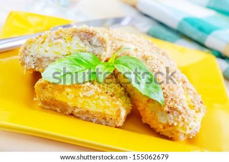 Chicken cordon bleu - stock photo