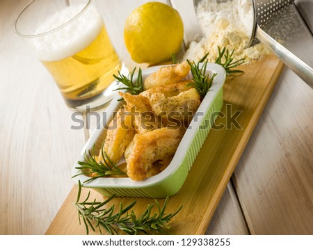 chicken croquette with rosemary and pepper