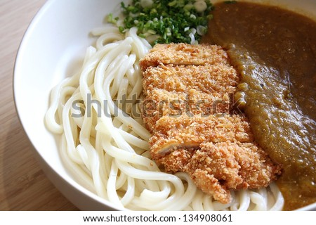 Chicken curry udon in Tokyo , Japan - stock photo
