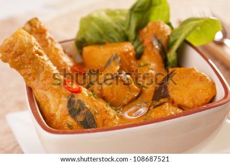 Chicken Curry. Unsharpened file - stock photo