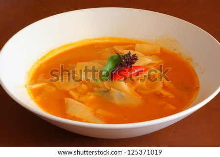 chicken curry with bamboo shoots - thai cuisine