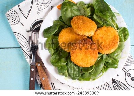 chicken cutlets - stock photo