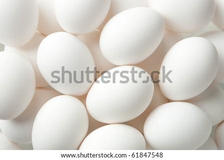 Chicken egg background full frame - stock photo