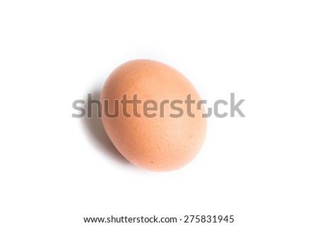 Chicken egg isolated  - stock photo