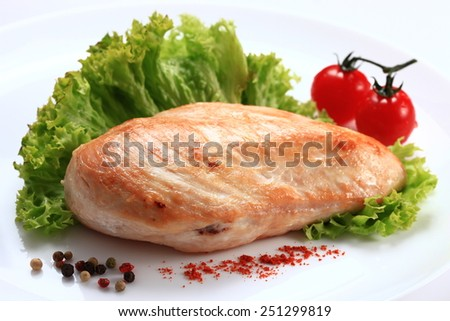 Chicken file fried isolated