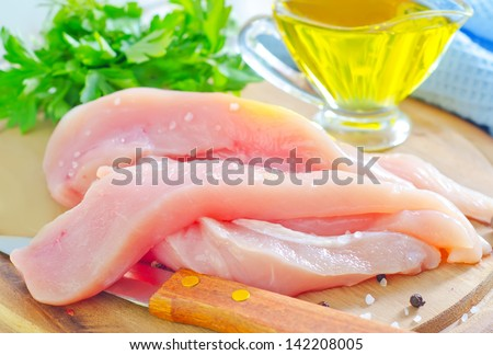 chicken fillet - stock photo