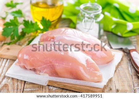 chicken fillet - stock photo