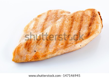 chicken fillet isolated - stock photo