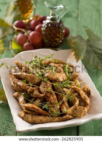 chicken food - stock photo