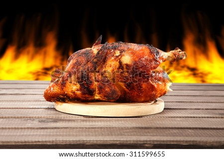 chicken for lunch  - stock photo