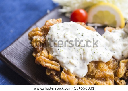 chicken fried steak - stock photo