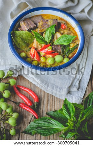 Chicken Green Curry, Thai Food, Thai Cuisine