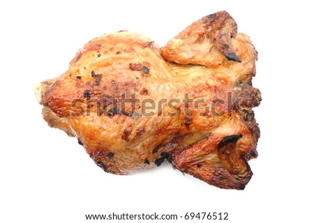 chicken grill isolated