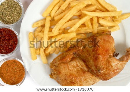 Chicken Grill with french fries