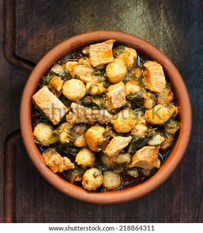 chicken guvec, - stock photo