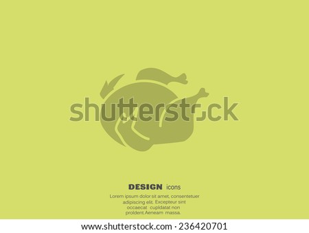 Chicken  icon - stock photo