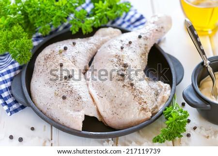 Chicken legs - stock photo