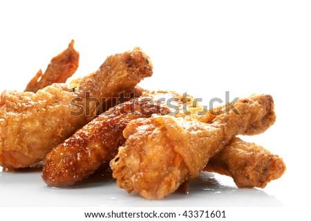 Chicken legs on the white - stock photo