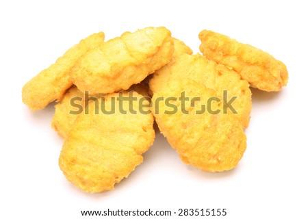 chicken nugget - stock photo