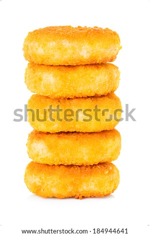 chicken nuggets isolated - stock photo