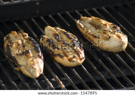 Chicken Gasgrill : Chicken on gas grill stock photo royalty free shutterstock